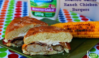 Roasted Garlic Chicken Ranch Burgers