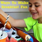 There are several Ways To Make Breakfast Fun! My kids have been bored with breakfast since summer has started so we have been looking for ways to spice it up.
