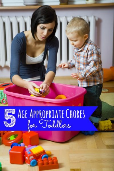 These 5 Age Appropriate Chores for Toddlers are perfect to help your toddler help out with the house and to get some chores done yourself!