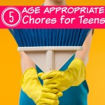 These 5 Age Appropriate Chores for Teens are a great way for your teen to earn money and learn responsibility at the same time.