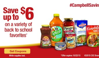 Campbell's Back To School Savings And Coupon!
