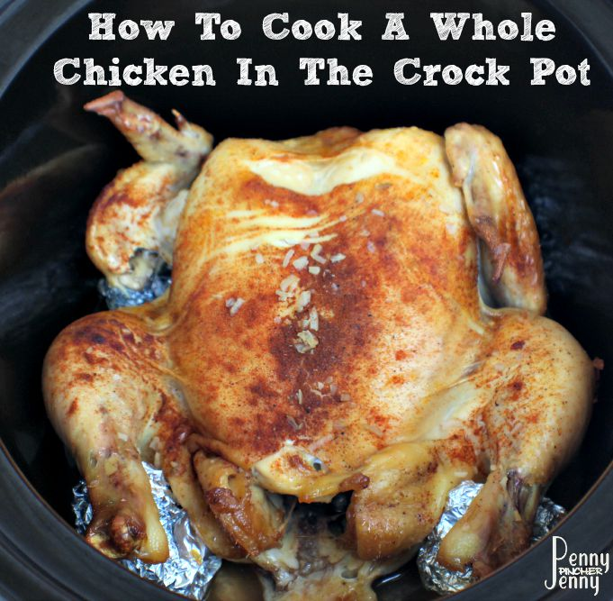 How To Cook A Whole Chicken In The Crock Pot! It is so much easier than it sounds to do! Plus the result is amazing tasting chicken that everyone will love!
