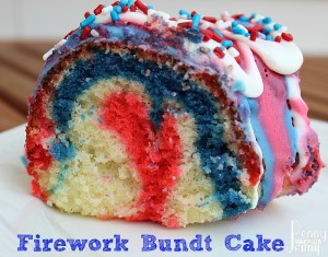 This Firework Bundt Cake Recipe is sure to make your Fourth of July celebration amazing! It was so easy to make perfec for any hoilday occasion too!