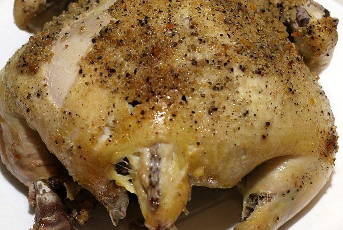 Lemon Pepper Crock Pot Chicken