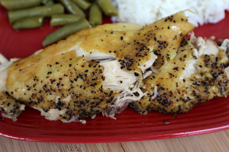 Lemon Pepper Crockpot Chicken, shared by Penny Pincher Jenny at The Chicken Chick's Clever Chicks Blog Hop