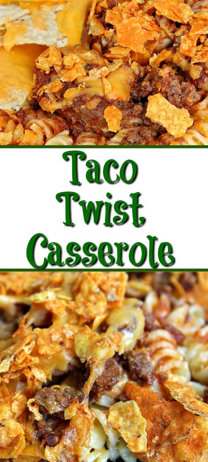 Taco Twist Casserole is the perfect casserole for a busy weeknight and any taco Tuesday! Sure to be a hit with the whole family!