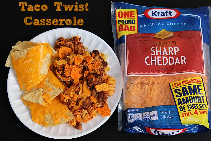 This Taco Twist Casserole is the perfect casserole for a busy weeknight and any taco Tuesday! Sure to be a hit with any of the kids in your house!