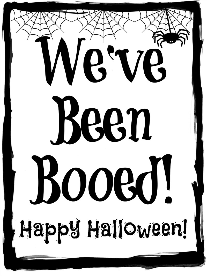 image regarding You've Been Booed Free Printable identify Cost-free Halloween Booing Printables! - Cook dinner Take in Move