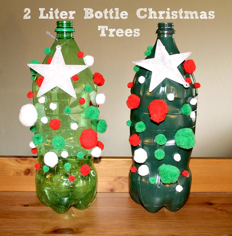 This 2 Liter Bottle Christmas Tree Craft is a great way to up-cycle your