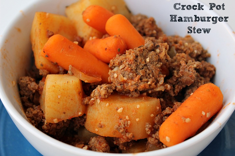 This easy Frugal Crock Pot Hamburger Stew is sure to be a hit with the whole family and is perfect for busy weeknight dinners during cold nights.