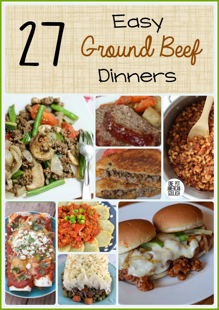 These Easy Ground Beef Dinner Recipes are sure to be a hit with your family! We love to use ground beef to make a quick and easy frugal family dinner