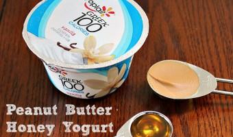 Peanut Butter And Honey Greek Yogurt