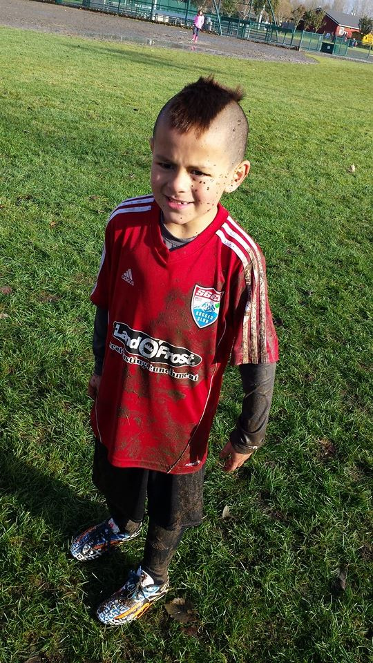 Michael All Muddy At Soccer. These 5 Things You Should Know About Being A Soccer Mom, perfect tips for when just starting out with soccer! Plus your kids will love having encouragement.