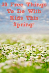 These 30 Free Things to Do With Kids are the perfect way to keep your kids entertained while saving money!! Activities with the kids can really add up fast!