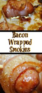 These Bacon Wrapped Smokies are sure to be the perfect food for watching sports!! Plus they are quick an easy to make for any get together.