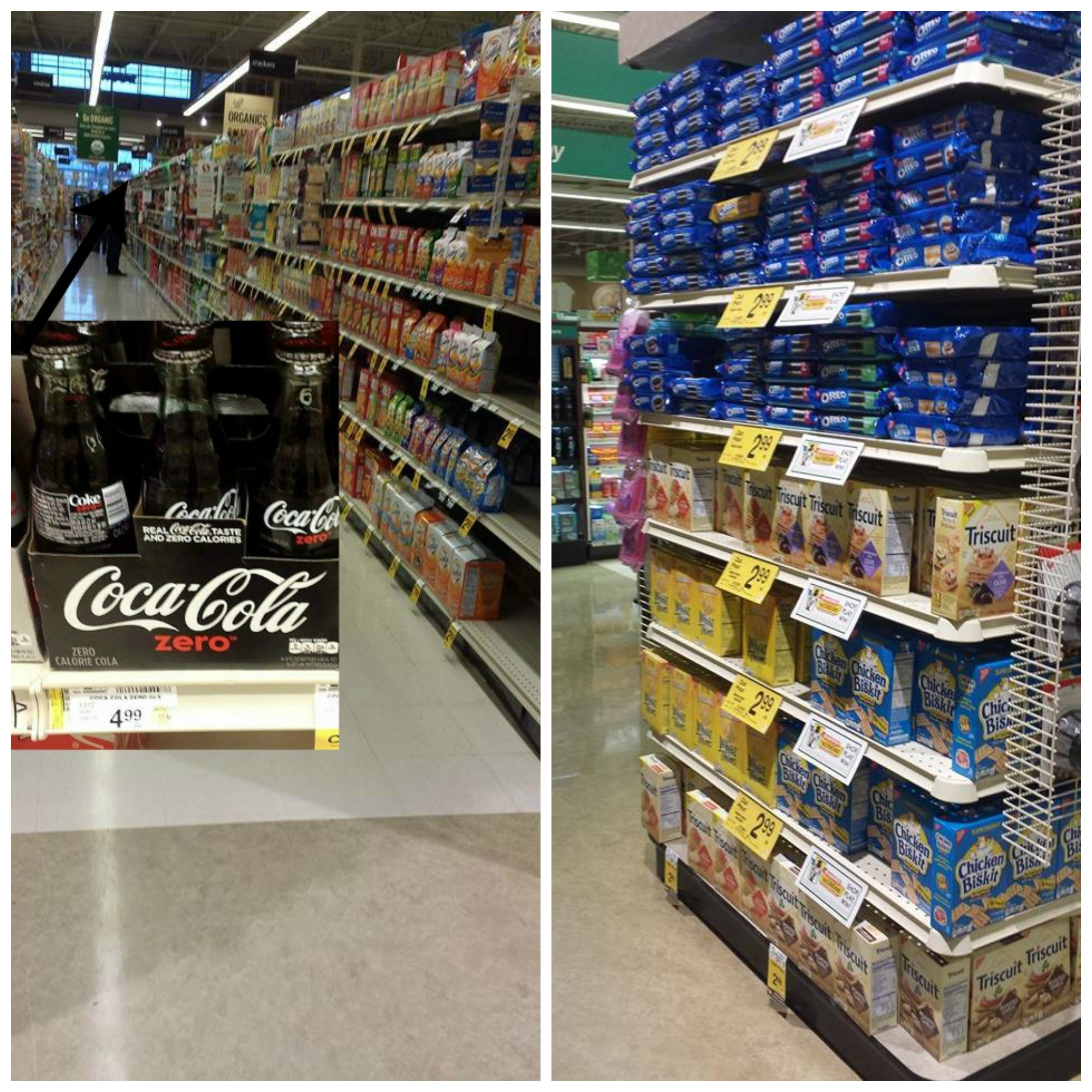 Coke Zero and Oreo at Safeway