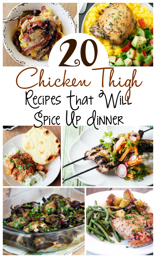 These 20 chicken thigh recipes are perfect to stretch your grocery budget and have a great dinner!! Chicken thighs go on sale and meat markdown often!