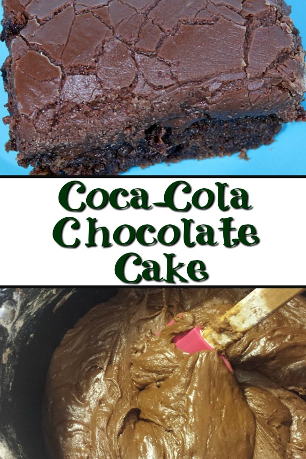 The perfect combination of chocolate and Coca Cola, plus butter and sugar!! It doesn't get much better than this Coca Cola Chocolate Cake!!