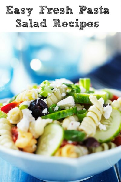 These easy and fresh pasta salad recipes are perfect for any bbq get together. It's the perfect side dish to make up the night before and just grab and go.