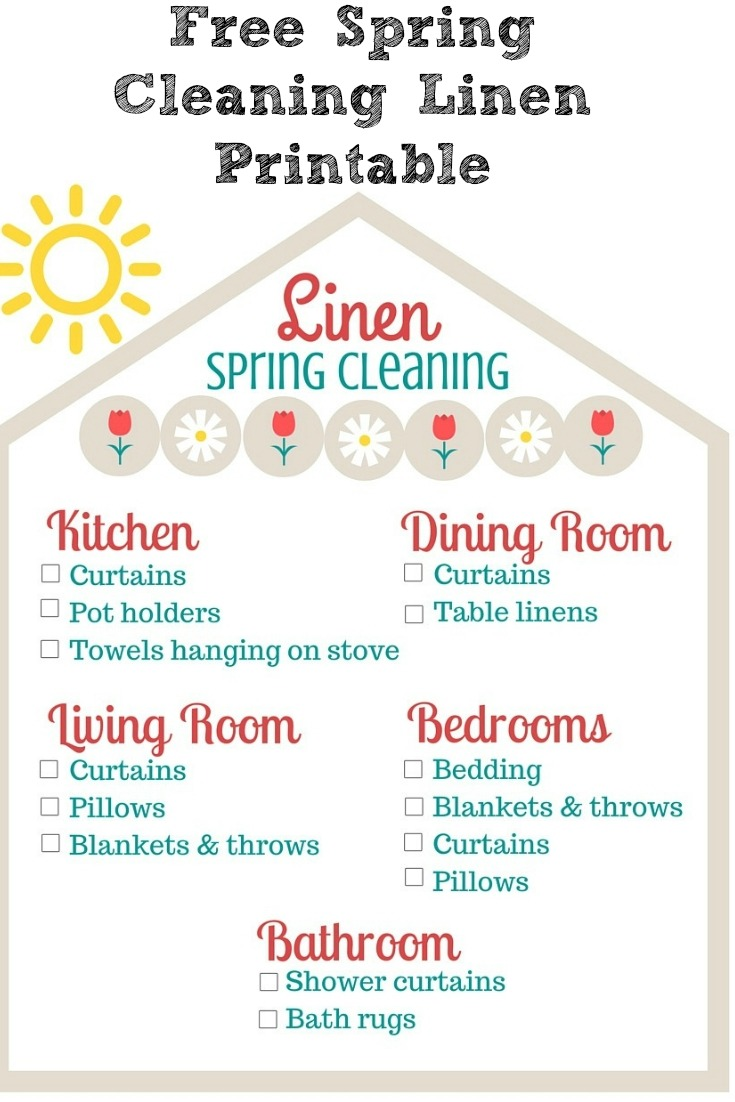 It's the time of year to be spring cleaning!! This Free Spring Cleaning Linen Printable will help to make sure that you don't miss linens.