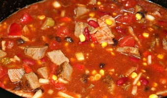 Slow Cooker Beef Brisket Chili