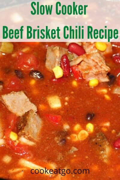 This slow cooker beef brisket chili is the perfect way to use your leftover smoke beef brisket!! This hit the spot and was a hit!