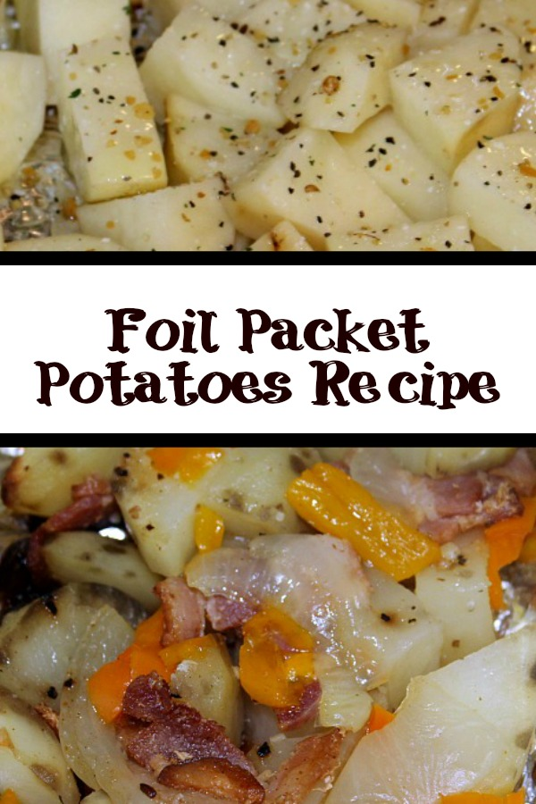These Foil Packet Potatoes are perfect side dish to any grilled dinner and also to take camping as well. You can put in almost any veggie or topping choice.These Foil Packet Potatoes are perfect side dish to any grilled dinner and also to take camping as well. You can put in almost any veggie or topping choice.