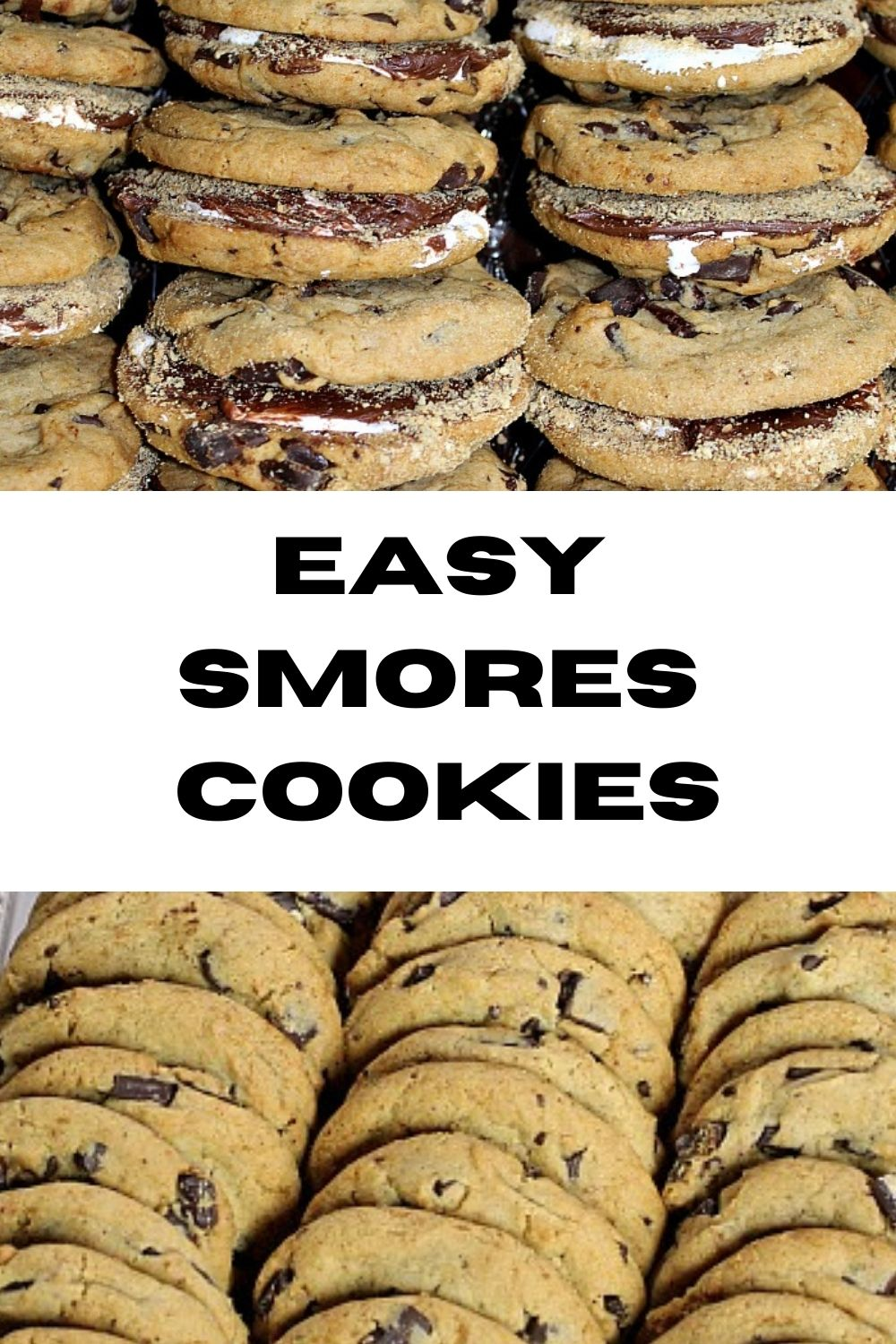 These easy Smores Cookies are the perfect dessert to make for a potluck! With little prepwork they are a time saver for last minute parties and fun dessert!