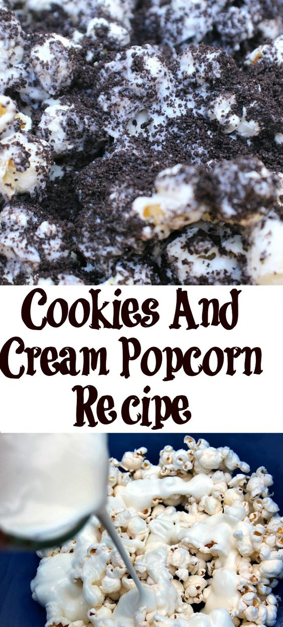 Summer time means more movie nights for our family! Cookies And Cream Popcorn is the perfect treat for a family movie night and it's really easy to make!