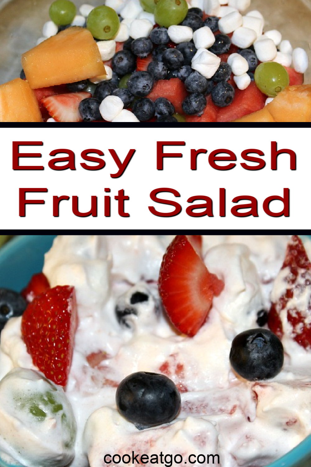 This fresh fruit salad is sure to be a hit with everyone! Use the summer's fresh fruit and whipped topping to make a dish perfect for any meal and gathering