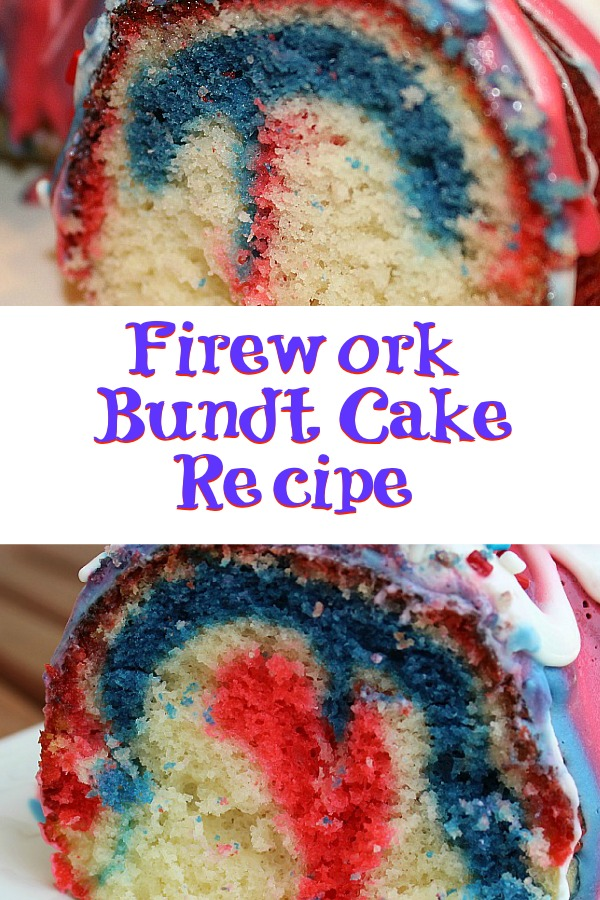 This Firework Bundt Cake Recipe is sure to make your Fourth of July celebration amazing! It was so easy to make perfect for any holiday occasion too!