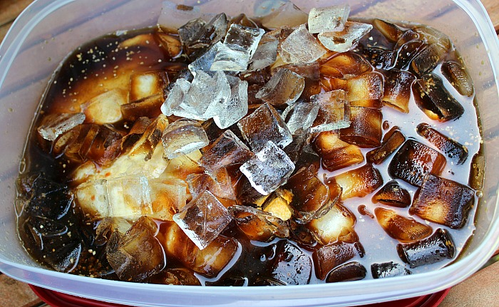 This Sweet And Smokey Coca-Cola Chicken is perfect for any get together!! The Coca-Cola brine is perfect to flavor your chicken for smoking!