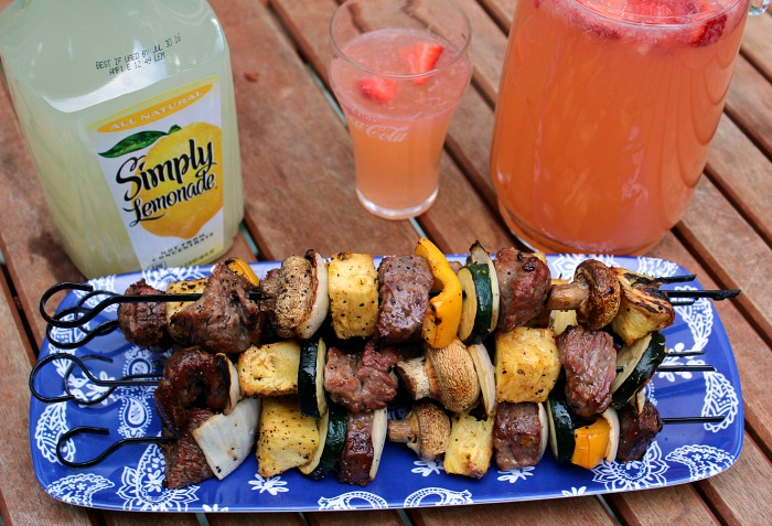 These Sweet And Zesty Steak Kabobs are perfect or summer time grilling!! You can change them up for any vegetable preference for an easy dinner!