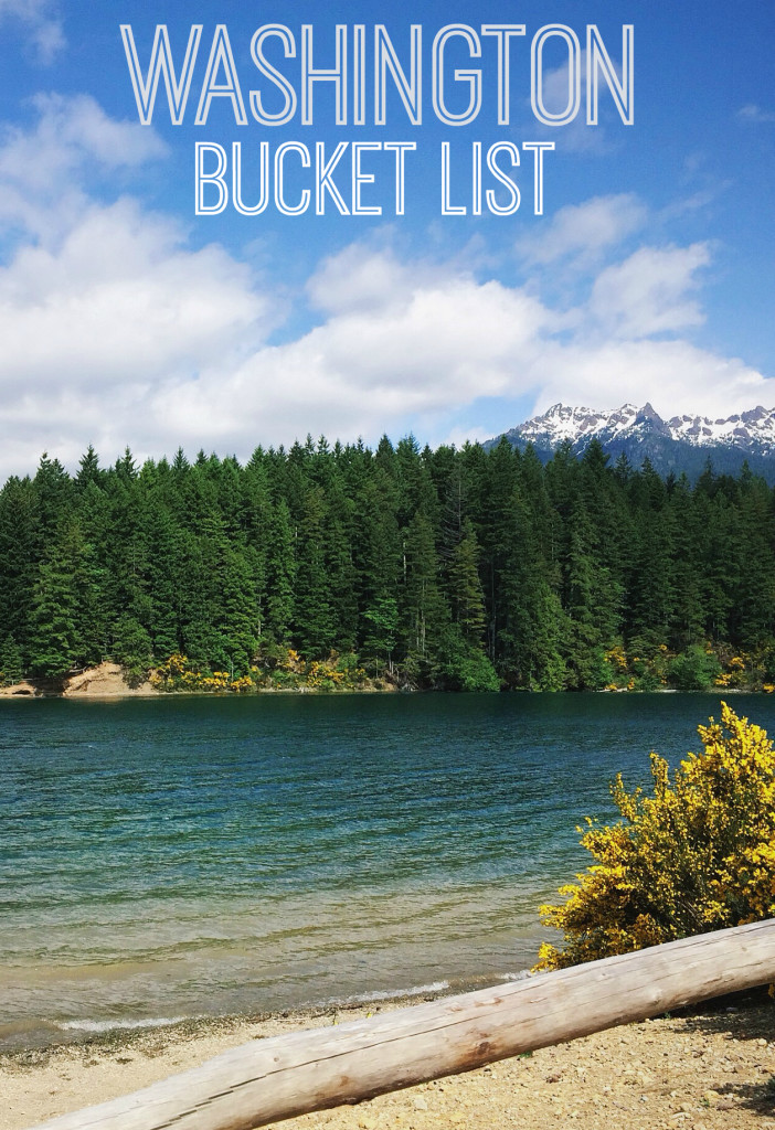 There is so much to see and do in Washington!! This Washington Bucket list has some of the gems of the state missed including beautiful waterfalls!