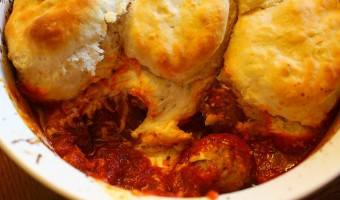 Biscuit Meatball Casserole