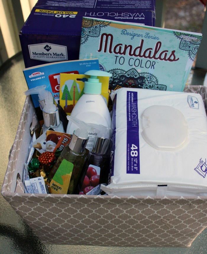 Being a caregiver can be so hard to do! This caregiver basket can be great to give to any one who is becoming a caregiver to someone.