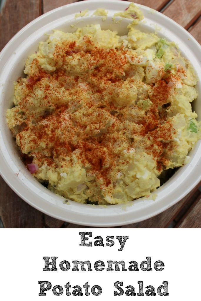 This easy to make Homemade Potato Salad was a huge hit at our Fourth of July get together! The best part of homemade is it taste amazing!