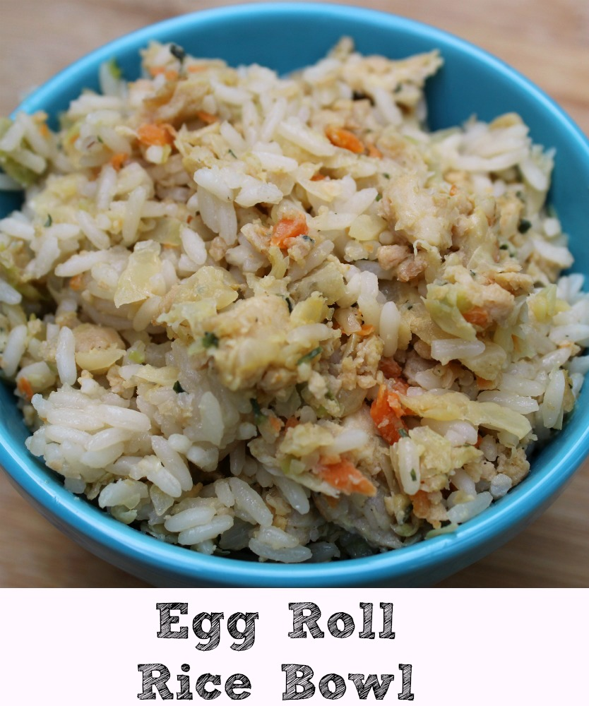 These Egg Roll Rice Bowls are perfect to make for a quick dinner at home!  Plus you can use any extra ingredients you want to add to them or make as is.