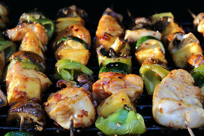 These Teriyaki Chicken Kabobs are an amazing recipe to make for grilling!! This is a great healthy option for tailgating food and perfect year round!