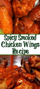 These Spicy Smoked Chicken Wings are perfect for tailgating! Season them and let them slow cook in the smoker for amazing flavor, top with sauce for a kick!
