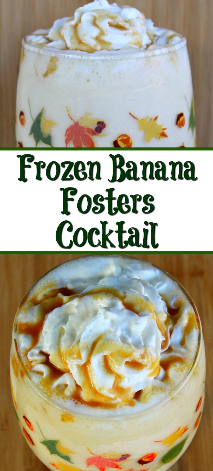 This Frozen Bananas Foster Cocktail is perfect for any get-together, The flavor is amazing and the perfect cocktail for a night in.
