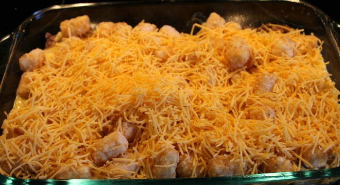 This Turkey Tater Tot Casserole Recipe is perfect for a quick weeknight dinner! This is a great twist on the original tater tot casserole.