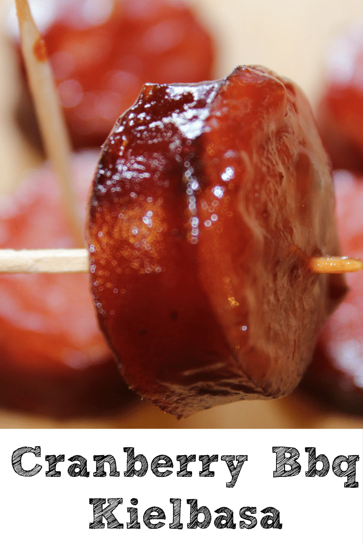 This Slow Cooker Cranberry Bbq Kielbasa is perfect to make for any get together and perfect for tailgating!! Just cook and serve, doesn't get any easier.