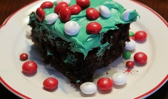 Easy Holiday Peppermint Brownies