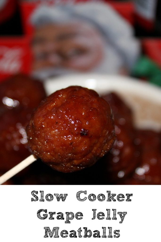 These Slow Cooker Grape Jelly Meatballs are perfect for any get together and are quick and easy to whip up! Put it on a toothpick and it's a crowd favorite!