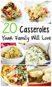 These casserole recipes are perfect for winter time! In a meal planning and time rut? These will save your sanity and get a great dinner on the table!