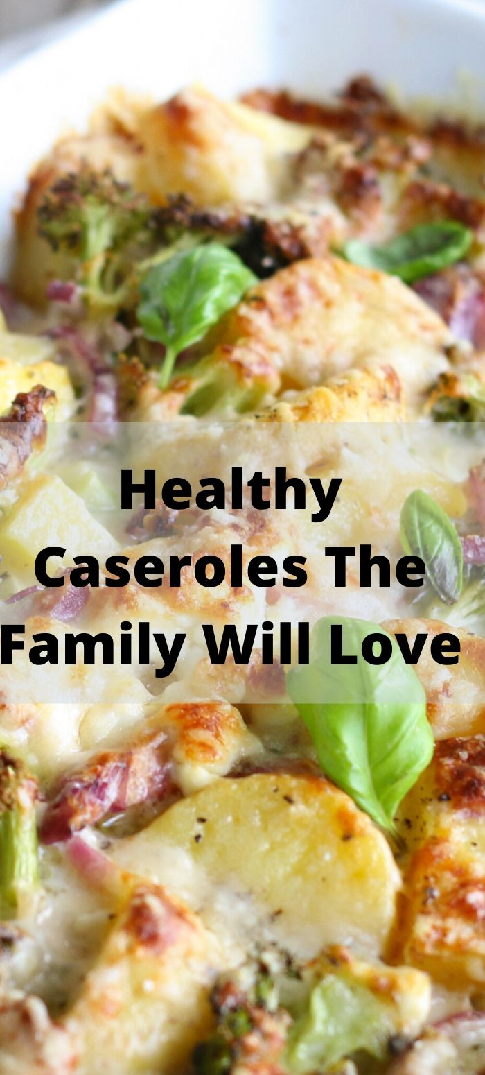 Healthy Casserole Recipes For The Whole Family! Perfect for crazy weeknights, easy dinners, and frugal meals as well to make dinner easy!