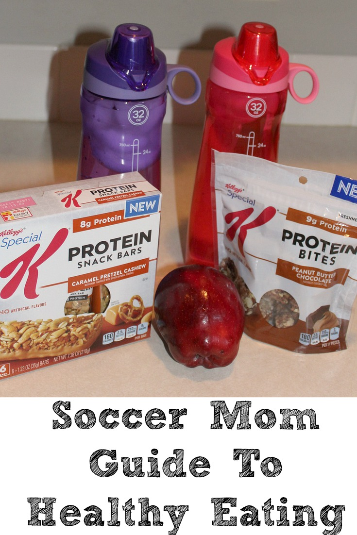 Being a soccer mom isn't easy sometimes! Healthy Eating can be hard to do when you are always on the go! Simple steps can keep you on track while busy.