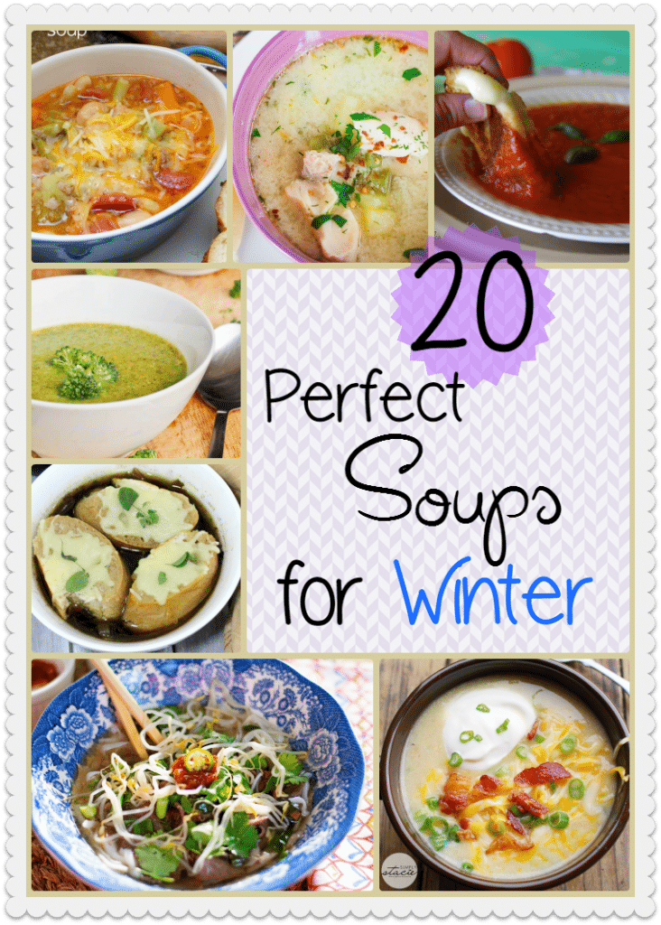 These Winter Soup recipes are perfect for staying warm in the cold months!! Plus they also make for a perfect lunch of leftovers the next day!
