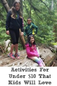These fun Activities for Under $10 are one that kids will love!! With summer time the kids are getting bored fast and we are trying to think of new things.